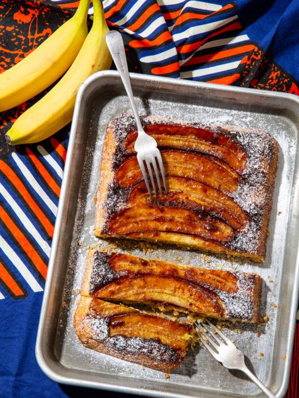 バナナアップサイドダウンケーキ